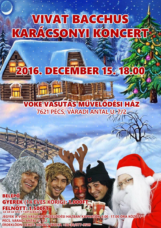 Vivat Bacchus Énekegyüttes Karácsonyi Kocertje a Vasutasban