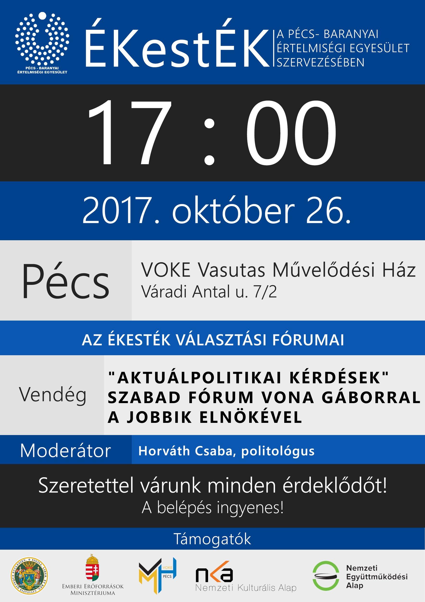 ÉKestÉK - Szabad fórum Vona Gáborral, a JOBBIK elnökével