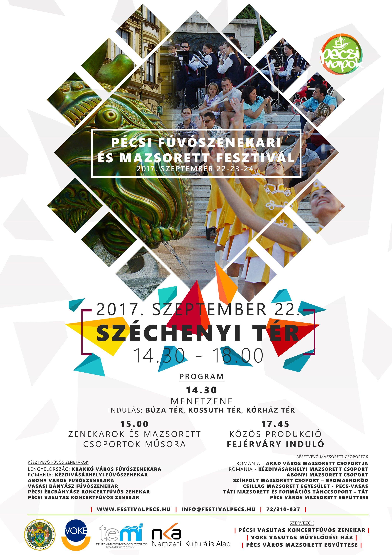 Pécsi Fúvószenekari és Mazsorett Fesztivál - Pécsi Napok 2017