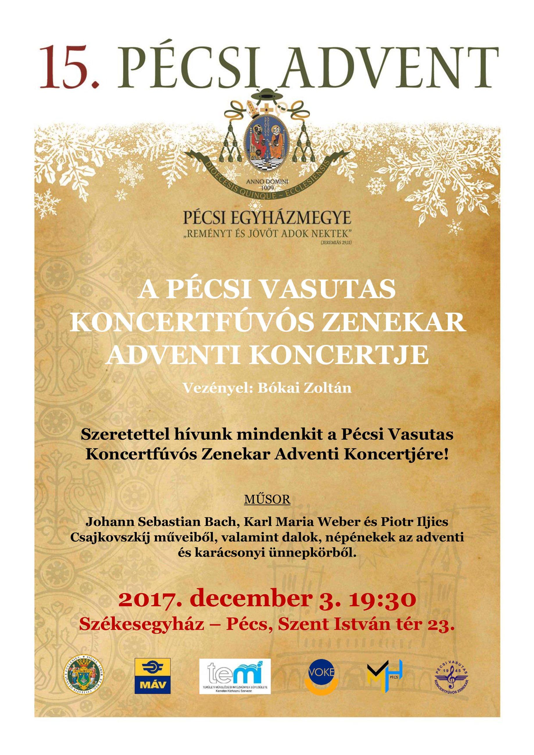 Pécsi Vasutas Koncertfúvós Zenekar 2017-es Adventi Koncertje